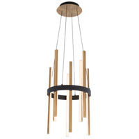 Modern Forms PD-87914-BK/AB Harmonix LED 14 inch Black Aged Brass Pendant Ceiling Light