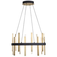 Modern Forms PD-87924-BK/AB Harmonix 1 Light 24 inch Black Aged Brass Chandelier Ceiling Light