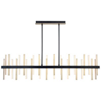 Modern Forms PD-87956-BK/AB Harmonix LED 56 inch Black Aged Brass Chandelier Ceiling Light in 56in. alternative photo thumbnail