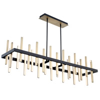 Modern Forms PD-87956-BK/AB Harmonix LED 56 inch Black Aged Brass Chandelier Ceiling Light in 56in.