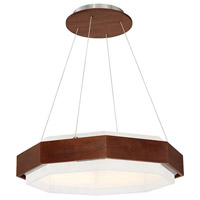 Modern Forms PD-88828-DW Koolhaus LED 28 inch Dark Walnut Pendant Ceiling Light