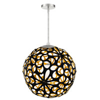 Modern Forms PD-89924-BK/GO-BN Groovy LED 24 inch Black-Gold Brushed Nickel Pendant Ceiling Light in 24in. Black and Gold