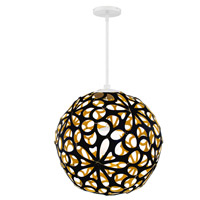 Modern Forms PD-89924-BK/GO-WT Groovy LED 24 inch Black-Gold White Pendant Ceiling Light in 24in., Black and Gold
