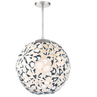 Modern Forms PD-89924-CM/BL-BN Groovy 1 Light 24 inch Cream-Blue Brushed Nickel Pendant Ceiling Light
