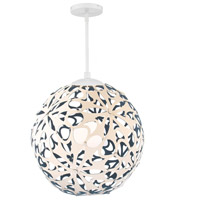 Modern Forms PD-89924-CM/BL-WT Groovy LED 24 inch Cream-Blue White Pendant Ceiling Light in 24in., Cream and Blue