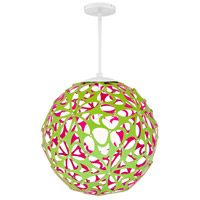 Modern Forms PD-89924-GN/PK-WT Groovy LED 24 inch Green-Pink White Pendant Ceiling Light in 24in., Green and Pink