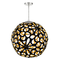 Modern Forms PD-89936-BK/GO-BN Groovy LED 36 inch Black-Gold Brushed Nickel Pendant Ceiling Light in 36in. Black and Gold