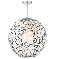 Modern Forms PD-89936-CM/BL-BN Groovy 1 Light 36 inch Cream-Blue Brushed Nickel Pendant Ceiling Light
