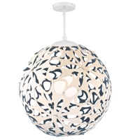 Modern Forms PD-89936-CM/BL-WT Groovy 1 Light 36 inch Cream-Blue White Pendant Ceiling Light