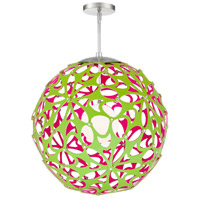 Modern Forms PD-89936-GN/PK-BN Groovy LED 36 inch Green-Pink Brushed Nickel Pendant Ceiling Light in 36in. Green and Pink
