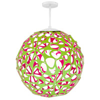 Modern Forms PD-89936-GN/PK-WT Groovy 1 Light 36 inch Green-Pink White Pendant Ceiling Light