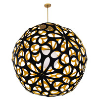 Modern Forms PD-89948-BK/GO-BN Groovy LED 36 inch Black-Gold Brushed Nickel Pendant Ceiling Light in 48in. Black and Gold