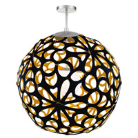 Modern Forms PD-89948-BK/GO-WT Groovy 1 Light 36 inch Black-Gold White Pendant Ceiling Light