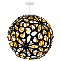 Modern Forms PD-89948-BK/GO-AB Groovy LED 36 inch Black-Gold Aged Brass Pendant Ceiling Light in 48in., Black and Gold