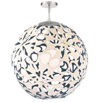Modern Forms PD-89948-CM/BL-BN Groovy 1 Light 36 inch Cream-Blue Brushed Nickel Pendant Ceiling Light