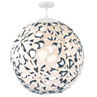 Modern Forms PD-89948-CM/BL-WT Groovy LED 36 inch Cream-Blue White Pendant Ceiling Light in 48in. Cream and Blue