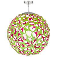 Modern Forms PD-89948-GN/PK-BN Groovy LED 36 inch Green-Pink Brushed Nickel Pendant Ceiling Light in 48in. Green and Pink