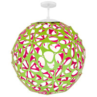 Modern Forms PD-89948-GN/PK-WT Groovy 1 Light 36 inch Green-Pink White Pendant Ceiling Light