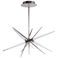 Modern Forms PD-92927-PN Stormy LED 26 inch Polished Nickel Pendant Ceiling Light in 2700K