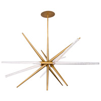 Modern Forms PD-92950-AB Stormy LED 48 inch Aged Brass Pendant Ceiling Light in 3500K
