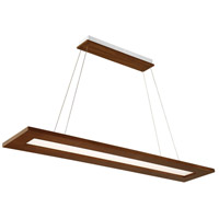 Modern Forms PD-94860-DW Tablet LED 60 inch Dark Walnut Linear Pendant Ceiling Light