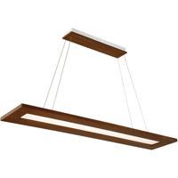 Modern Forms PD-94860-DW Tablet LED 60 inch Dark Walnut Linear Pendant Ceiling Light