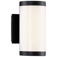 Modern Forms WS-W12809-40-BK Lithium LED 9 inch Black Outdoor Wall Light