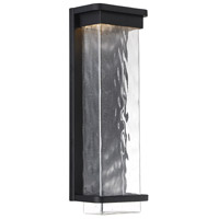 Modern Forms WS-W32516-BK Vitrine 1 Light 16 inch Black Outdoor Wall Light