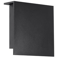 Modern Forms WS-W38608-BK Square 1 Light 8 inch Black Outdoor Wall Light