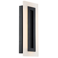 Modern Forms WS-W46817-BK Shadow LED 17 inch Black Outdoor Wall Light