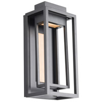 Modern Forms WS-W57014-BK/AB Dorne LED 14 inch Black Aged Brass Outdoor Wall Light
