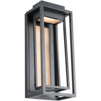 Modern Forms WS-W57018-BK/AB Dorne LED 18 inch Black Aged Brass Outdoor Wall Light