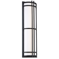 Modern Forms WS-W68612-BK Skyscraper 1 Light 12 inch Black Outdoor Wall Light