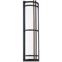 Modern Forms WS-W68612-BK Skyscraper 1 Light 12 inch Black Outdoor Wall Light