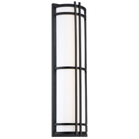 Modern Forms WS-W68618-BK Skyscraper 1 Light 18 inch Black Outdoor Wall Light