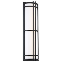 Modern Forms WS-W68627-BK Skyscraper 1 Light 27 inch Black Outdoor Wall Light