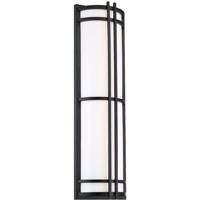 Modern Forms WS-W68627-BK Skyscraper 1 Light 27 inch Black Outdoor Wall Light