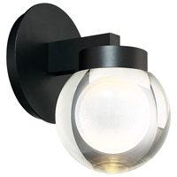 Modern Forms WS-W68809-BK Atom LED 8 inch Black Outdoor Wall Light