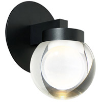 Modern Forms WS-W68810-BK Atom LED 10 inch Black Outdoor Wall Light