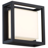 Modern Forms WS-W73608-BK Framed 1 Light 8 inch Black Outdoor Wall Light