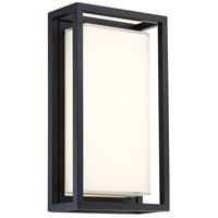 Modern Forms WS-W73614-BK Framed 1 Light 8 inch Black Outdoor Wall Light