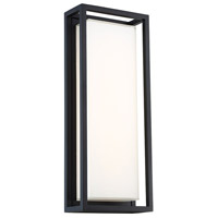 Modern Forms WS-W73620-BK Framed 1 Light 10 inch Black Outdoor Wall Light