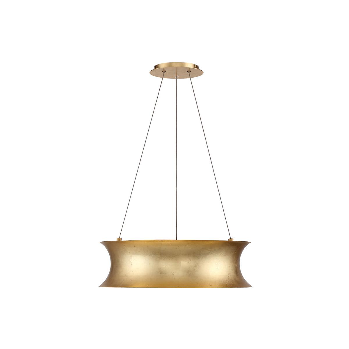 Details About Modern Forms Pd 34620 Gl Tango Led 20 Inch Gold Leaf Chandelier Ceiling Light