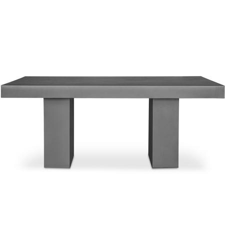 Moe S Home Collection Bq 1000 25 Antonius 79 X 40 Inch Dark Grey Outdoor Dining Table