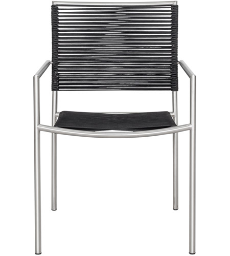 Moe's Home Collection BQ-1029-15 Brynn Black Outdoor Dining Chair, Set of 4 photo