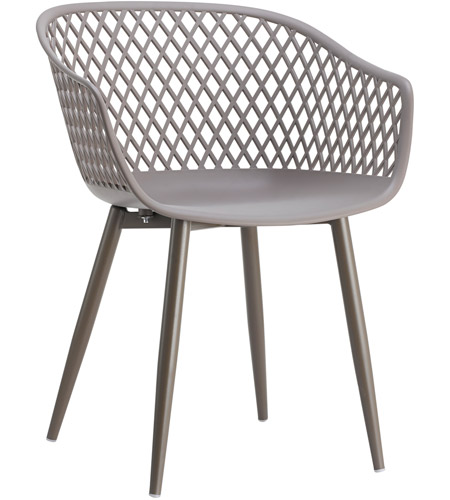 Moe's Home Collection QX-1001-15 Piazza Grey Outdoor Chair, Set of 2 photo
