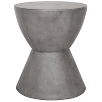 Hourglass 18 inch Dark Grey Outdoor Stool