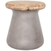 Earthstar 18 inch Dark Grey Outdoor Stool