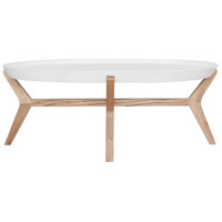 Hyde 47 X 32 inch Cream White Coffee Table