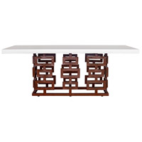 Ivey 79 X 39 inch White Outdoor Dining Table, Medium